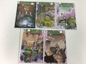 Teenage Mutant Ninja Turtles / Ghostbusters Vol. 2 Comic Set Issues #1-5 Cover A