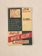 Hole White Alloy Wristwatch Mainspring Nos International 41 Quick Fit K929 Db &