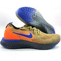 Nike Epic React Flyknit Mowabb Golden Beige Blue Orange AV8068-200 Men's 10