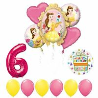 Beauty and The Beast 6th Birthday Party Balloon supplies decorations