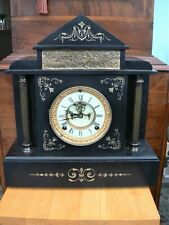 More details for antique marble / slate ansonia mantle clock - 1890