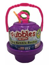 Fubbles No Spill BIG Bubble Bucket Purple With 3 Wands MADE IN USA NEW Toys