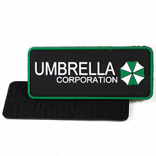 PVC Morale Patch Umbrella Corp Green 3D Badge Hook #02 Paintball Airsoft