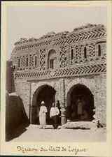 Tunisie, Maison du Caïd de Tozeur  Vintage citrate print.  Tirage citrate