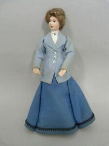Jill Nix artisan dolls house doll Edwardian lady housekeeper 1/12th scale