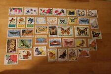 PAPILLONS LOT 37 TIMBRES OBLITERES.-T072