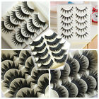 5 Pairs Makeup Beauty False Eyelashes Eye Lashes Extension Long Thick Cross Gift