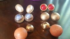 VINTAGE 5 PAIRS CLIP ON EARRINGS NAPIER DIVA TRIFARI RICHELIEU PELLINI / BELLINI