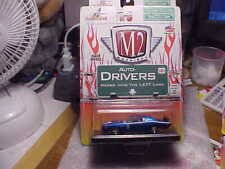 M2 Auto Drivers 1971 Dodge Charger Blue with Real Riders