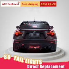For Toyota 86 LED Taillights Assembly Dark LED Rear Lamps 2017-2020