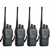 4 Ricetrasmittenti Radio Pmr Uhf 400-470 mhz BF-888S 16 Canali Con Auricolare