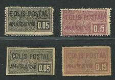 FRANCE Colis postaux Yv 15 à18 neufs