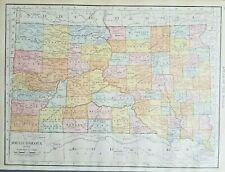 Rand McNally 1916 Antique Map of South Dakota