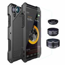 Phone Case Metal Waterproof Shockproof Alloy Bumper Fisheye Lens For iPhone