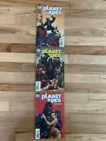 Planet of the Apes The Human War 1 2 & 3 J Scott Campbell Dark Horse Comics Card