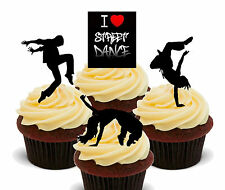 I love street dance-comestibles cup cake toppers, standup fairy décorations dancing