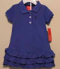 GIRLS 6-9 months IZOD polo blue dress with bloomers NWT