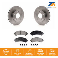 Front Disc Rotors & Semi-Metallic Brake Pads Fits 1997 GMC Jimmy
