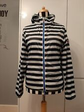INVICTA Windbreaker Jacket Size M Striped REVERSIBLE 2 Way Full Zip Hooded