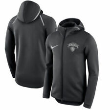Nike NBA New York NY Knicks Therma Flex Showtime Bench Sweatshirt Hoodie MEDIUM