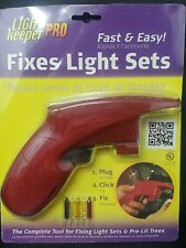 Light Keeper Pro Fixes Light Sets NEW Batteries Included plus 5 Spare Mini Bulbs