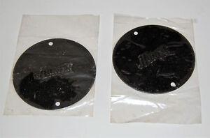 HUNTER ANTIQUE VINTAGE CEILING FAN ORIGINAL PARTS - TWO (2) BLACK NEW END CAPS!