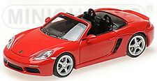 Porsche 718 Boxster Typ 982 Roadster 2016-19 rot red 1:87 Minichamps