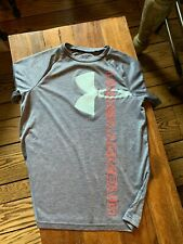Boys Youth Under Armour Tee Shirt T Shirt,Short Sleeve,Loose Fit,Heat Gear,Yl
