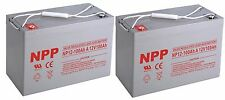 NPP 12V 100Ah AGM Deep Cycle UPS Battery For Alpha CFR 3000NT Pack 2