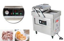 220V Double-Chamber Vacuum Packaging Machine for Meats Vegetables Sealing