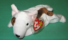 Butch Ty Beanie Baby Bull Terrier White Puppy Dog MWMT DOB October 2 1998 #4227