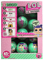 LOL SURPRISE! SERIES 2, WAVE 2, LITTLE LIL SISTERS *FULL BOX CASE OF 24 BALLS*