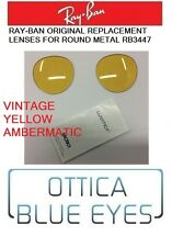 LENTI Ricambio RAYBAN RB 3447 ROUND METAL Replacement Lenses YELLOW AMBERMATIC