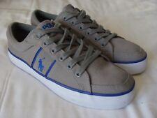 Ralph Lauren Polo Grey Canvas Deck Shoes - UK Size. 7