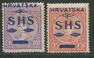 SHS - Yugoslavia 1918 ☀  Mi 64-65 ☀ MNG HCV