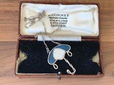 Sterling Silver Enamel Necklace 8.54gr B'gham 1982