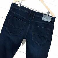 ⭐ Mens Diesel Tepphar regular Slim carrot dark denim jeans RB040 size W34 L32
