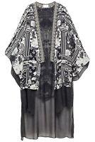 Camilla Silk Kimono Wild Moonchild Print Long Underlay Crystals Embellished