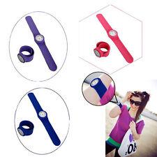 3 Pack Slap On Wrist Watch |  Colored Rubber Slap-on Bracelet Watch