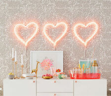 NEW OH JOY LED Neon Pink Heart Light Target Hanging Wall Bar Sculpture Sign Lamp