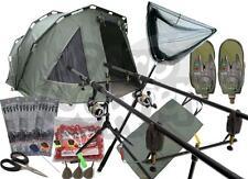 Complete Carp Fishing Setup 2 x Rods Reels Alarms Net & Tackle 2 Man Bivvy NGT