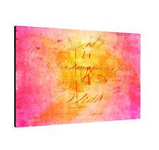 "47.2""x31.5"" Paul Sinus Image - Enigma Series On Canvas Timeless Pink Orange"