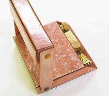 1930s GILLETTE Gold Plated SAFETY RAZOR SET in ART NOUVEAU Catalin Flip Top CASE