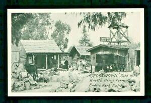 Postcard Knott's Berry Farm Ghost Town Gold Mine Buena Park CA. KBF