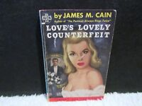 Vintage 1942 Love's Lovely Counterfeit by James M. Cain Paperback Book