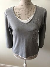 Ladies Grey Casual Top Size 12