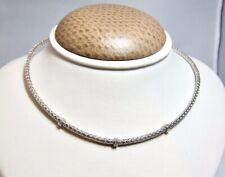 Roberto Coin 18k White Gold Diamond Drop Necklace 18