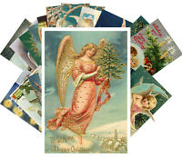 Postcards Pack [24 cards] Vintage Christmas Beautiful Lady Baby Angel  CH4008