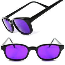 Purple Lens Vintage Retro Fashion 80s Mens Womens Small Rectangle Sunglasses