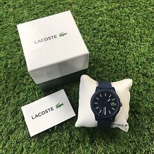 "Lacoste Men's 12.12 Blue Watch - Textured Band ""Slightly Used"""